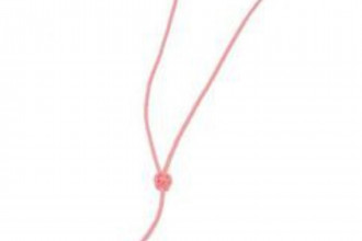 Bisley-Pink Plaited Leather Lanyard