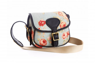 Bradleys-Blue Floral Cartridge Bag