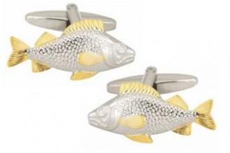 Dalaco-Fish 2-Tone Gold & Rhodium Plated Cufflinks