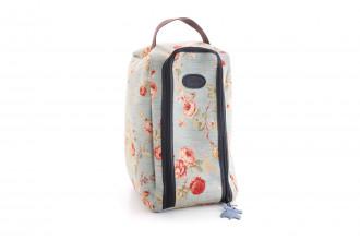 Bradleys-Blue Floral Wellie Boot bag