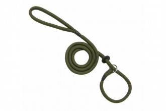 Bisley-Loose Green Braid Dog Slip Lead