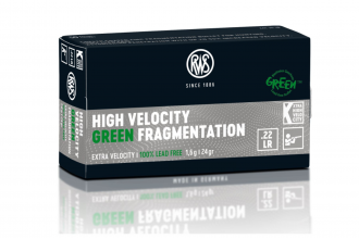 RWS-High Velocity Green Fragmentation .22LR 24gr