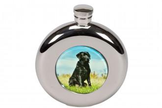 Bisley-4.5oz Round Labrador Hip Flask in Box