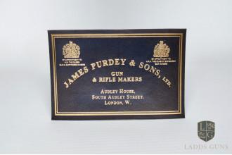 Purdey-Medium Gun Case Label