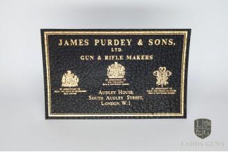 Purdey-Large Gun Case Label