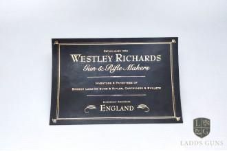 Westley Richards-Large Gun Case Label