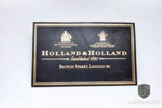 Holland & Holland-Extra Large Gun Case Label