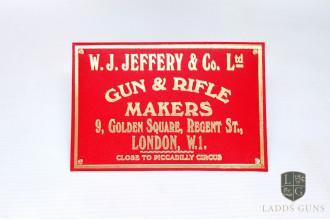 W. Jeffery & Son-Red Gun Case Label