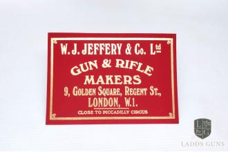 W. Jeffery & Son-Burgundy Gun Case Label