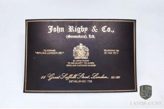John Rigby-Gun Case Label