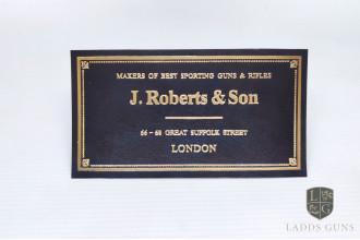 J. Roberts & Son-Gun Case Label