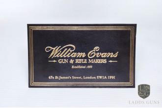 William Evans-Gun Case Label