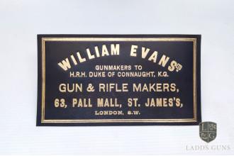 William Evans-Large Gun Case Label