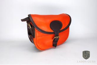 Joanne Yorath-Orange Leather Cartridge Bag