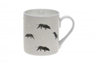 Sophie Allport-Sit! Black Labrador Coloured Standard Mug