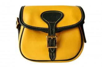 Bradleys-Yellow Leather Cartridge Bag