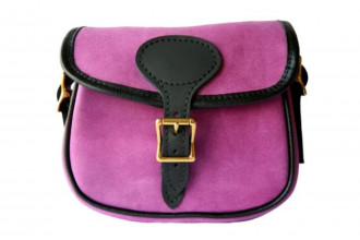 Bradleys-Pink Leather Cartridge bag