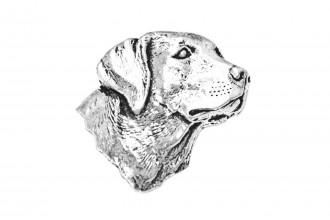 Pewter Pin-No 11: Labrador Head