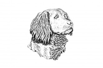 Pewter Pin-No 15: Spaniels Head