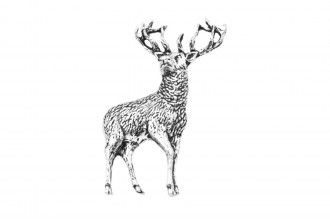Pewter Pin-No 21: Stag