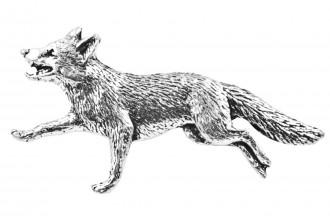 Pewter Pin-No.27: Running Fox