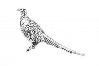 Pewter Pin-Standing Pheasant