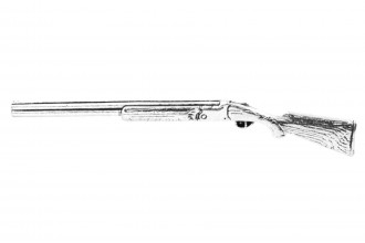 Pewter Pin-No 32: Over Under Shotgun
