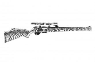 Pewter Pin-No 34: Hunting Rifle