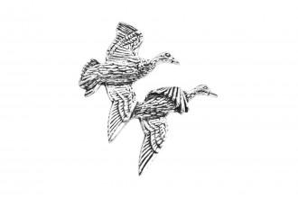 Pewter Pin-No 5: Pair Of Ducks