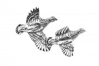 Pewter Pin-No 7: Partridge