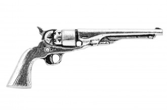 Pewter Pin-No 35: Antique Revolver