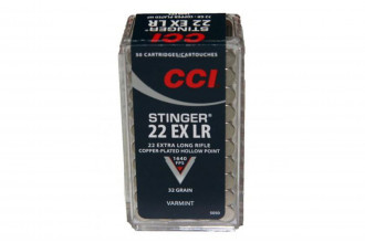 CCI-22 EX LR Stinger 32gr Copper Plated Hollow Point Varmint