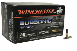 WINCHESTER-22 LR Subsonic 42 gr