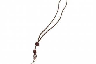 Bisley-Plaited Brown  Leather Lanyard